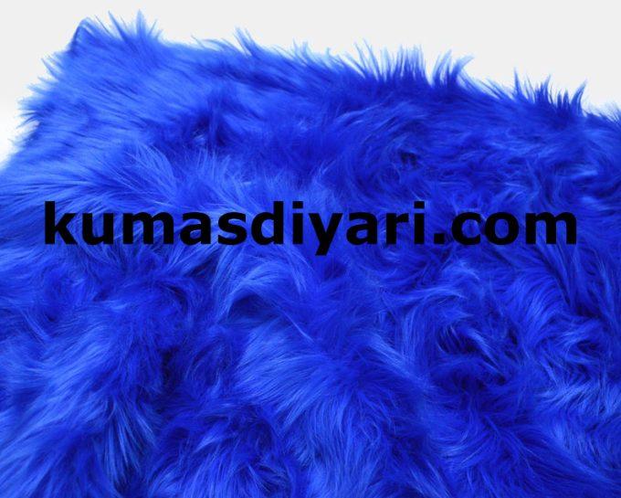 mavi peluş kumaş