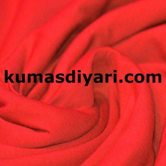 neon kırmızı penye kumaş