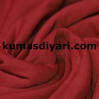 pas kırmızısı penye kumaş