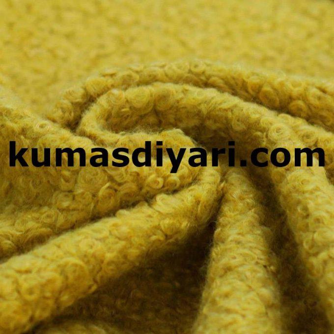 sarı buklet kumaş