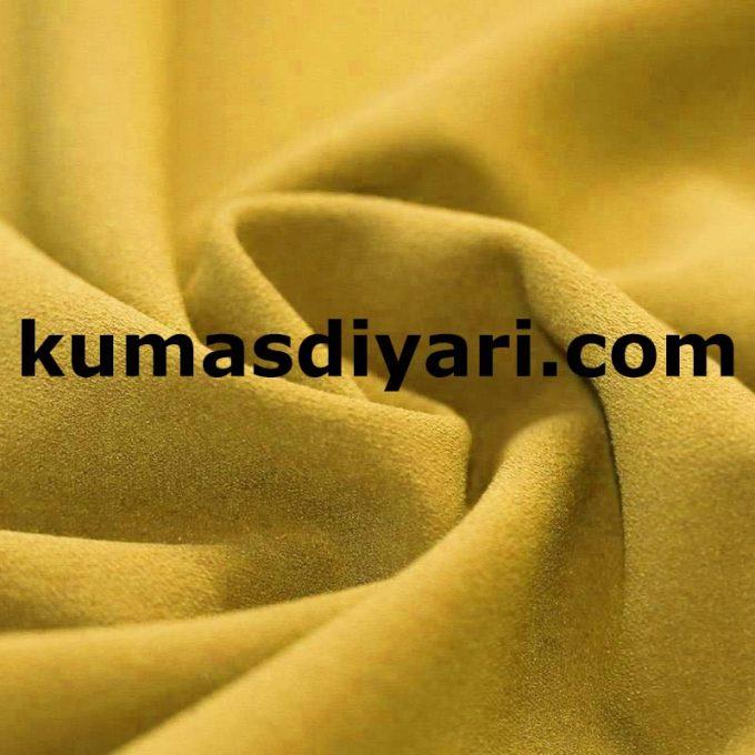 sarı scuba krep kumaş