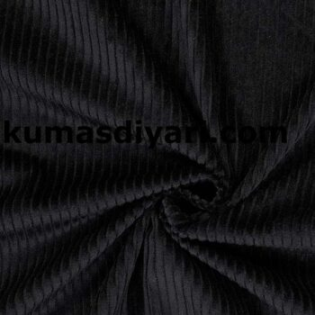 siyah fitilli kadife kumaş