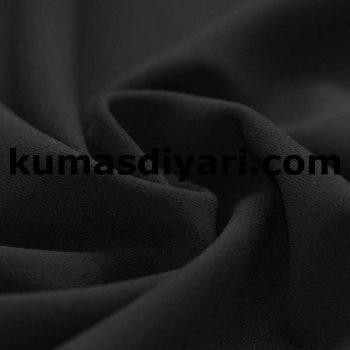 siyah scuba krep kumaş