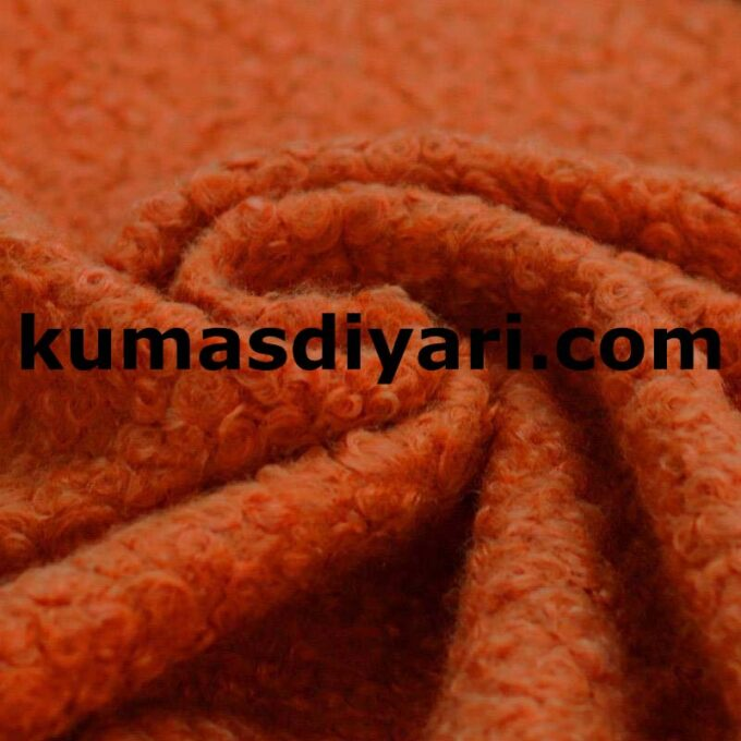 turuncu buklet kumaş