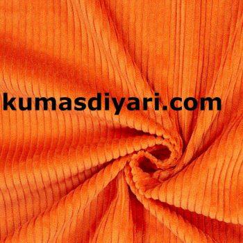 turuncu fitilli kadife kumaş