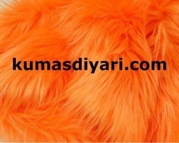 turuncu peluş kumaş