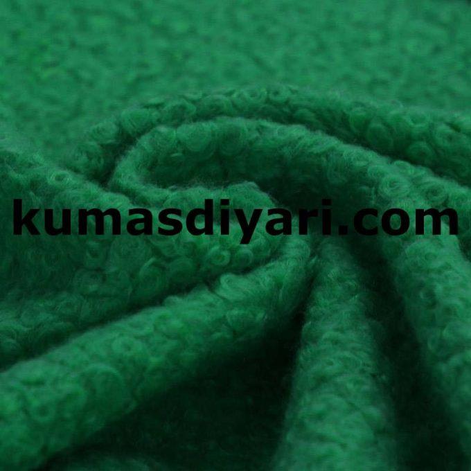 yeşil buklet kumaş