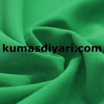 yeşil scuba krep kumaş