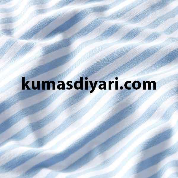 açık mavi beyaz çizgili likralı süprem kumaş çeşitleri ve modelleri kumasdiyari.com da