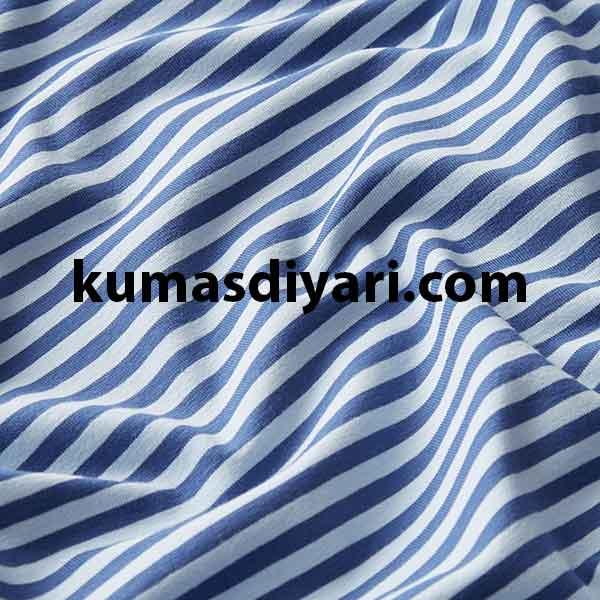açık mavi koyu mavi çizgili likralı süprem kumaş çeşitleri ve modelleri kumasdiyari.com da