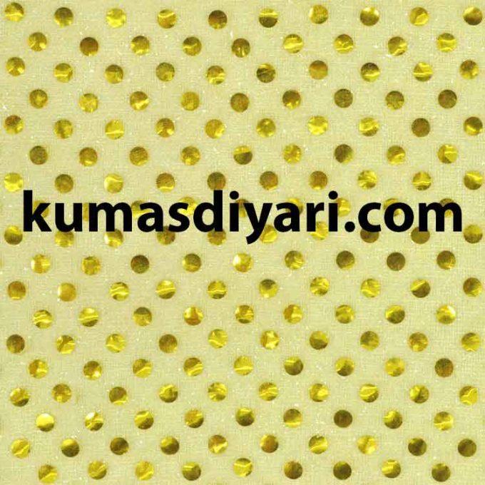 açık sarı noktalı payet kumaş çeşitleri ve modelleri kumasdiyari.com da