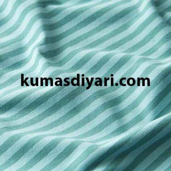 açık yeşil koyu yeşil çizgili likralı süprem kumaş çeşitleri ve modelleri kumasdiyari.com da