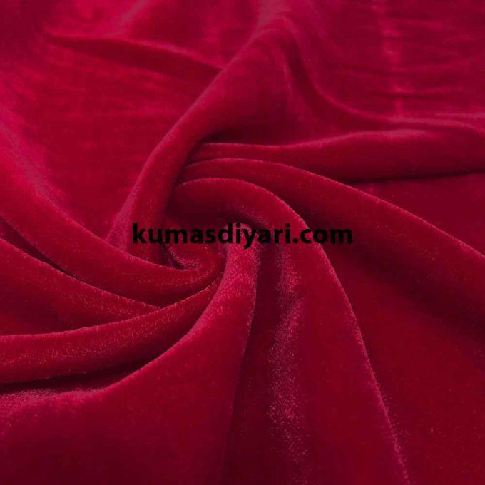 bayrak kırmızısı likrasız işlemelik kaftanlık kadife kumaş çeşitleri ve modelleri kumasdiyari.com da