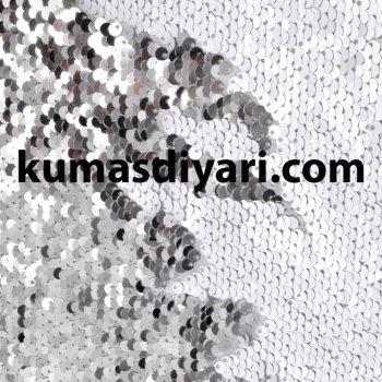 beyaz gümüş çift taraflı payet kumaş çeşitleri ve modelleri kumasdiyari.com da
