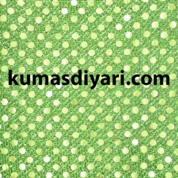 fıstık yeşili noktalı payet kumaş çeşitleri ve modelleri kumasdiyari.com da