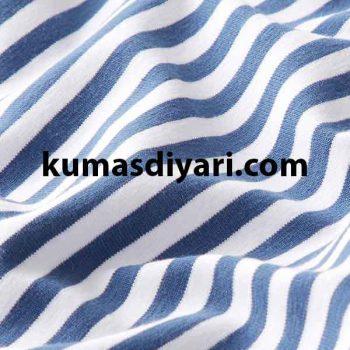 jeans mavi beyaz çizgili likralı süprem kumaş çeşitleri ve modelleri kumasdiyari.com da