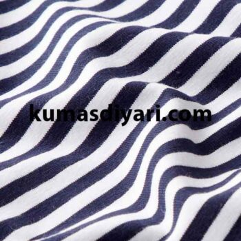 koyu mavi beyaz çizgili likralı süprem kumaş çeşitleri ve modelleri kumasdiyari.com da