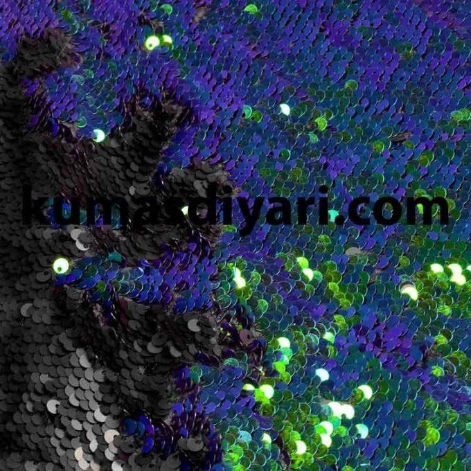 mavi yeşil çift taraflı payet kumaş çeşitleri ve modelleri kumasdiyari.com da