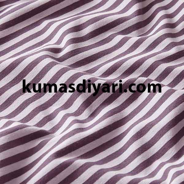mor beyaz çizgili likralı süprem kumaş çeşitleri ve modelleri kumasdiyari.com da