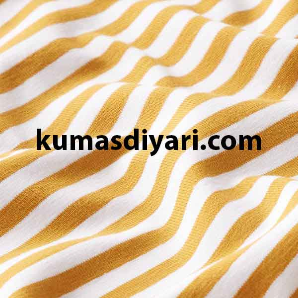 sarı beyaz çizgili likralı süprem kumaş çeşitleri ve modelleri kumasdiyari.com da