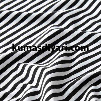 siyah beyaz çizgili likralı süprem kumaş çeşitleri ve modelleri kumasdiyari.com da